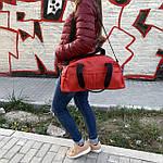 Женская спортивная сумка дорожная сумка из искусственной кожи Красный, фото 9