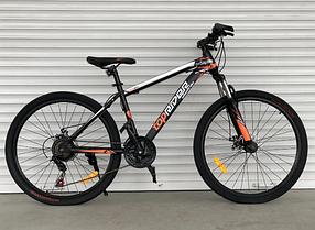 """Гірський Велосипед TopRider 24 дюймів""""611"""" червоний"""