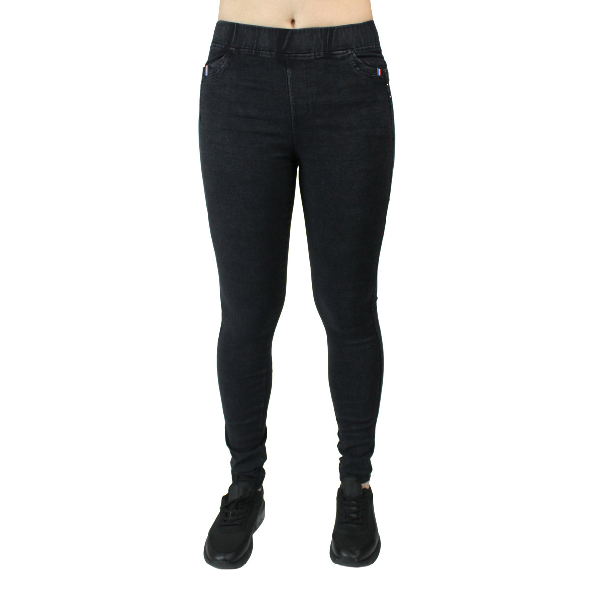 Джеггинсы черные джинсовые женские повседневные Метелик