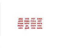 """Карточки большие русские с фактами """"Чтение"""" 20 слов 095030"""