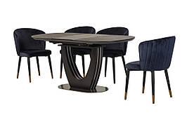 Керамічний стіл TML-865-1 чорний онікс