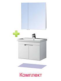 Комплект мебели - Тумба с умывальником Смарт 70 и Зеркальный шкаф ЗШ-70