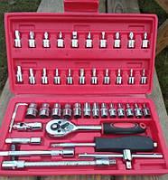 Набор инструментов 46 предметов M-107,отвертка с насадками, трещетка с комплектом головок,трещеточный ключ