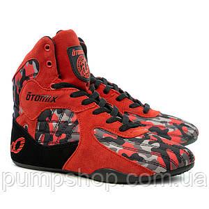 Кроссовки для бодибилдинга Otomix Camouflage Stingray Bodybuilding красный+камуфляж 42,5 р-р