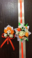 Бутоньерка роза для жениха, гостей, свидетелей + браслет на руку невесте,свидетельнице,подружкам невесты