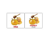 """Карточки мини русско-английские """"Еда/Food"""" 80 карт 095696"""