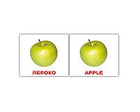 """Карточки мини русско-английские """"Фрукты/Fruit"""" 40 карт  096778"""