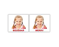 "Карточки мини русско-английские ""Эмоции/Emotions"" 40 карт  096969"