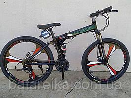 """Велосипед складаний на литих дисках 26"""" Hummer рама 17"""" Чорний"""