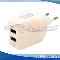 Сетевое зарядное устройство USB, 5V 2.1A (2USB)