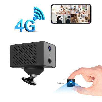 4G камера видеонаблюдения с Сим картой мини автономная Eyeсloud D59, 2 Мегапикселя, аккумулятор 2600mAh
