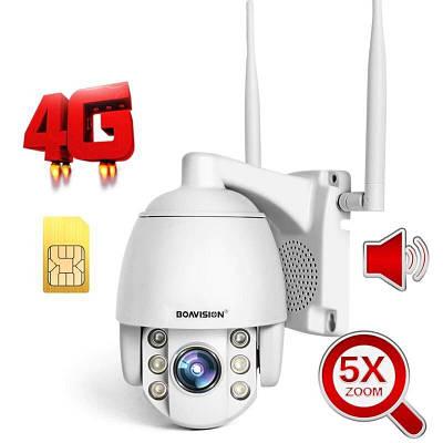 4G камера видеонаблюдения поворотная PTZ c 5X зумом Baovision 4G20M24AS, 2 Мегапикселя, уличная,