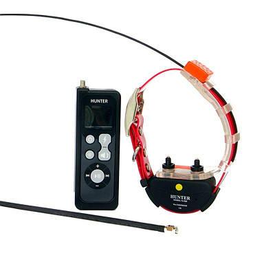 Радио ошейник с gps для охотничьих собак - трекер до 25 км HUNTER-25 PRO, с воздействием током и звуком