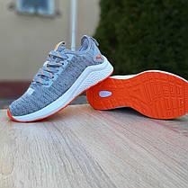 Жіночі кросівки Пума Hybrid сірі з помаранчевим, фото 2