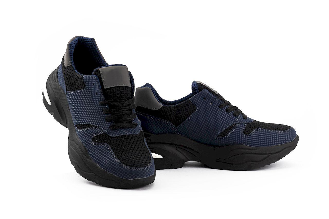 Подростковые кроссовки текстильные весна/осень черные-синие Lions NB-сет