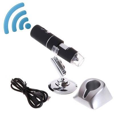 Wifi микроскоп цифровой аккумуляторный с 1000Х кратным увеличением KKMOON BW-1000, с записью фото/видео на
