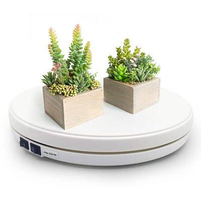 Автоматический поворотный стол для предметной съёмки 3D с подсветкой Heonyirry C250, диаметр 25 см, белый
