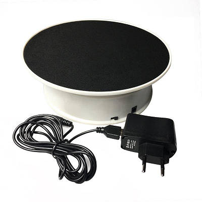 Поворотный стол для предметной съемки и 3D фото Heonyirry C366, диаметр 20 см, черный