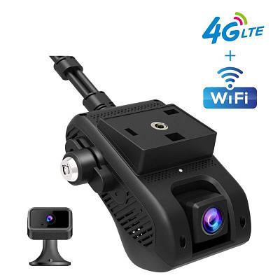 Автомобильный видеорегистратор с 4G + WIFI + GPS Jimi JC400 с передачей видео через интернет (внутренняя