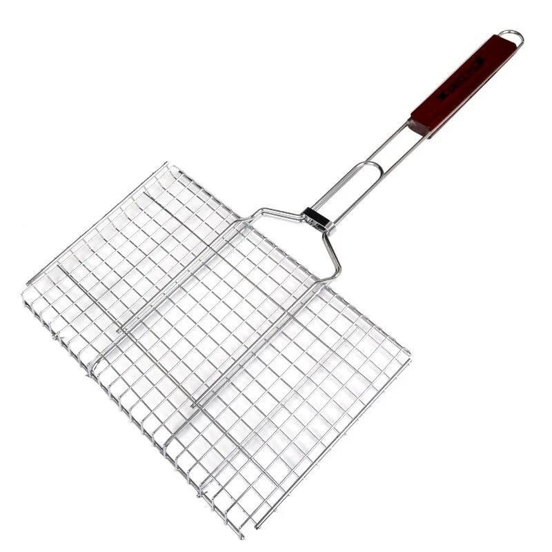 Решітка для мангалу 30x40x60cm нержавіюча сталь з ручкою