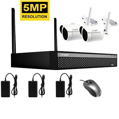 Комплект видеонаблюдения беспроводной WIFI на 2 камеры Longse WIFI 3604-5Mp Kit 2, 300 метров, 5 Мегапикселей