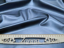 Ткань экокожа (Искусственная кожа) цвет серый металик