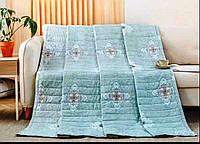 Стёганое легкое одеяло евро (голубой)