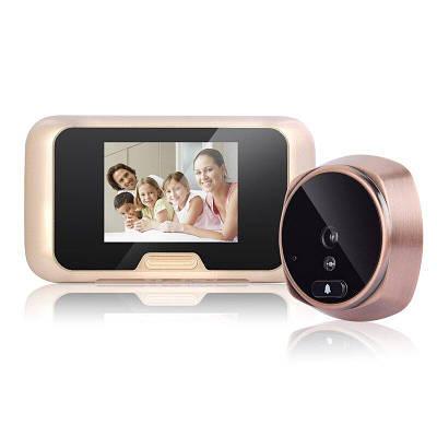 Відеовічко дверної цифровий для квартири Kivos KR08 c 3 екраном, підсвічуванням і відео/фото записом. Карта 8 Гб