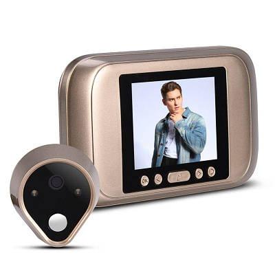 """Відеовічко дверної цифровий для квартири Kivos SG32 з 3,5"""" екраном і фото/відео записом"""