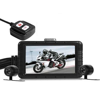 Видеорегистратор для мотоцикла на 2 камеры с пультом управления FHD SE100, HD 720P