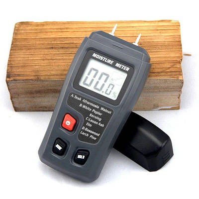 Влагомер древесины игольчатый Bside EMT01, измеритель влажности древесины