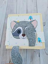 Книжечка-игрушка для детей 15*15 см развивающая ручной работы 20