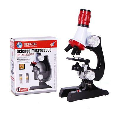 Детский микроскоп для ребенка школьный с 1200 Х увеличением Chanseon 1411