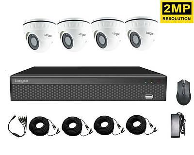 Комплект видеонаблюдения на 4 камеры Longse XVRA2004D4P200, 2 Мегапикселя, FullHD 1080P
