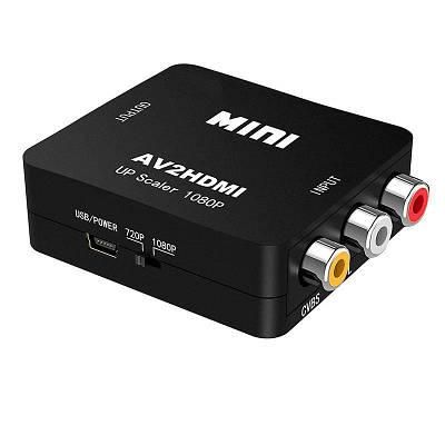 AV to HDMI конвертер видеосигнала + аудио Full HD 1080P Felkin AV2HDMI