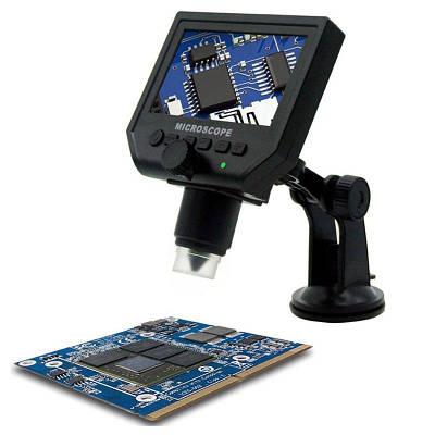 """Микроскоп для пайки с 4.3"""" LCD экраном GAOSUO P-600 c увеличением 600 X"""