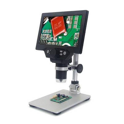 """Микроскоп цифровой с 7"""" дюймовым LCD экраном и подсветкой GAOSUO G1200HD, c увеличением до 1200X, питание от"""