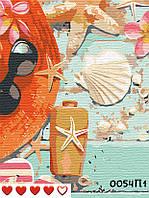 Картина по номерам На море, цветной холст, 40*50 см, без коробки Barvi