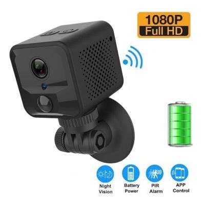 Мини камера wifi беспроводная с датчиком движения CAMSOY S9 PIR, Full HD 1080P, аккумулятор 1600 мАч