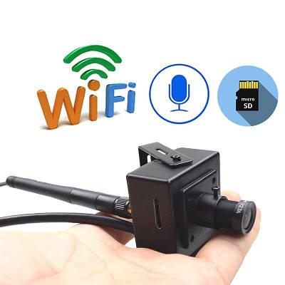 Мини wifi камера с датчиком движения и микрофоном Jienuo 407SW, 2 мегапикселя HD1080P, металлическая