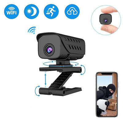 Мини камера WIFI 1 МП, HD 720P с невидимой подсветкой до 8 метров ZTour T9, без аккумулятора