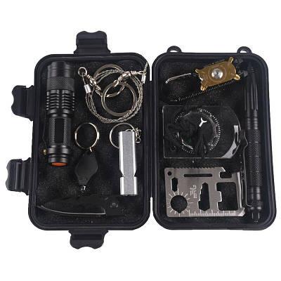 Набор для выживания из 10 инструментов Kinsmirat AK-10 в пластиковом кейсе