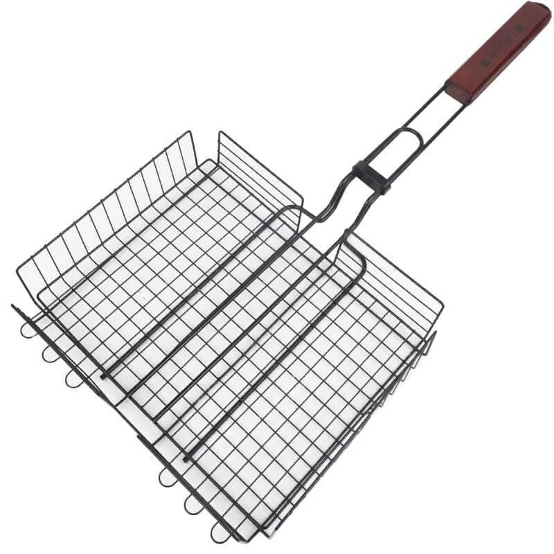 Универсальная сетка для мангала овощей 24x30x58cm с ручкой