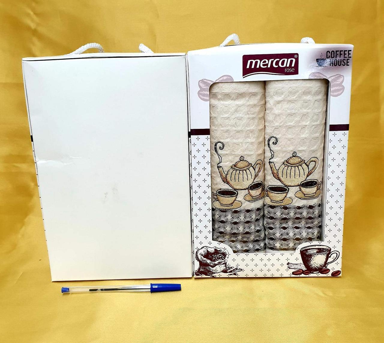 Кухонные полотенца Вафельные (ТМ Niltex)  хлопок 50*70 (2шт.) Турция