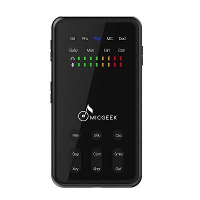 Портативный микшерный пульт с процессором эффектов - изменитель голоса MICGEEK Mi520