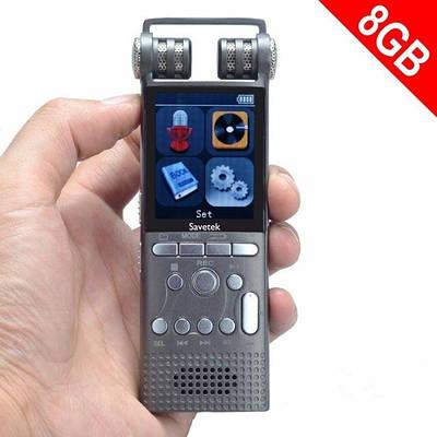 Профессиональный диктофон цифровой с линейным входом Savetek GS-R06, 8 Гб памяти, стерео, SD до 64 Гб