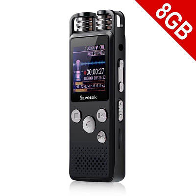 Профессиональный цифровой диктофон для журналиста Savetek GS-R07, 8 Гб памяти