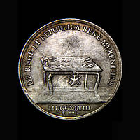 Медаль 1748 г Август III  в серебре №627 копия, фото 1