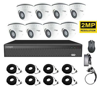 Система видеонаблюдения для магазина на 8 камер Longse XVR2008D8P200 kit, 2 Мп, HD1080P