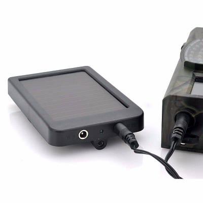Солнечная зарядка с аккумулятором для фотоловушек и охотничьих камер Suntek HC-300, HC-500 и других, с